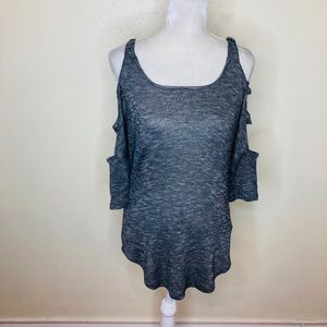 Jessica Simpson Gray Cold Shoulder Top